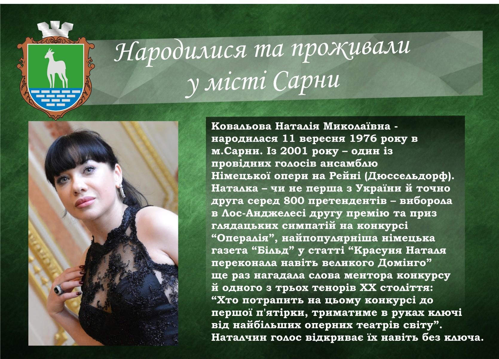 Ковальова Наталія Миколаївна