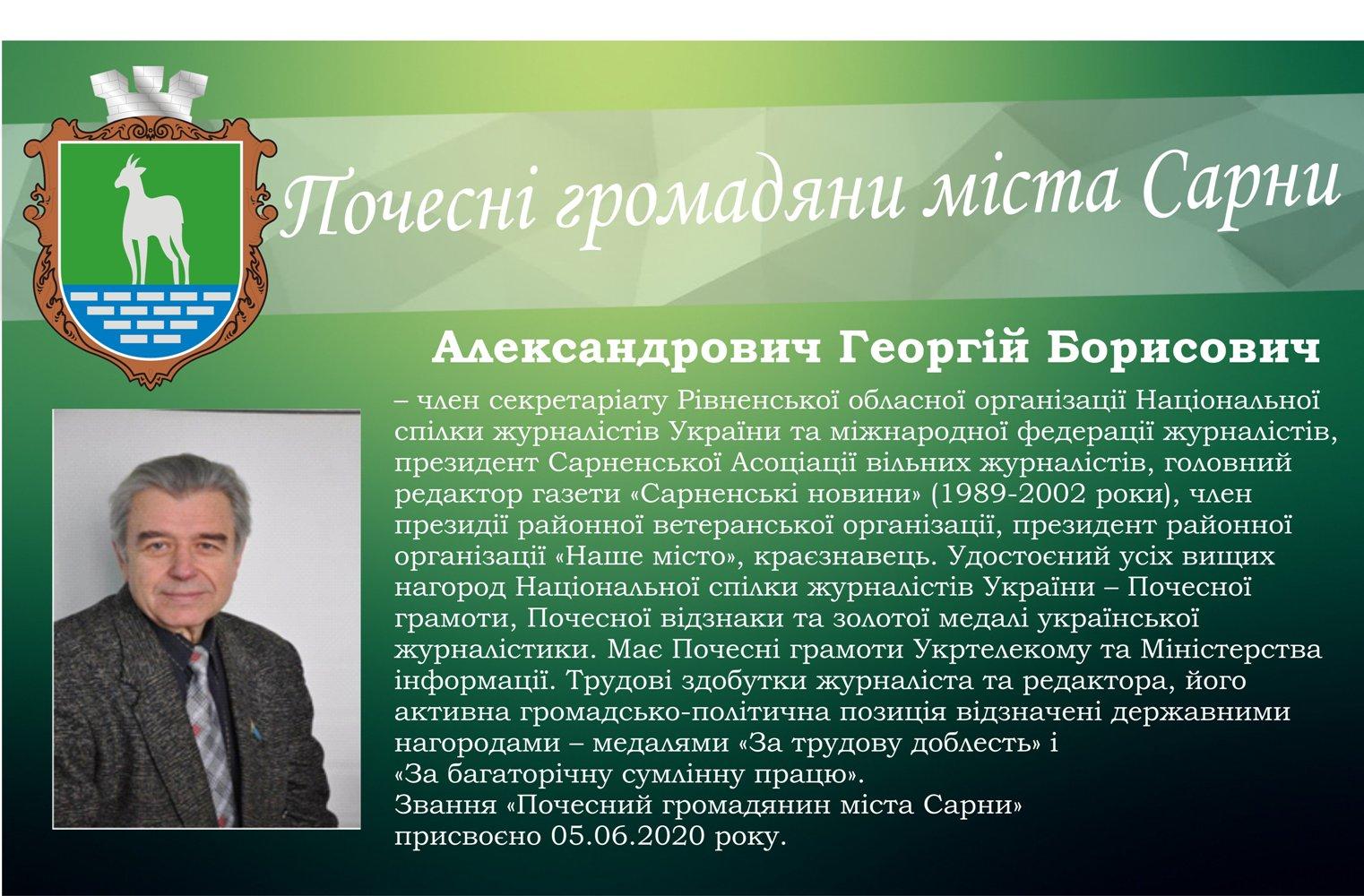 Александрович Георгій Борисович